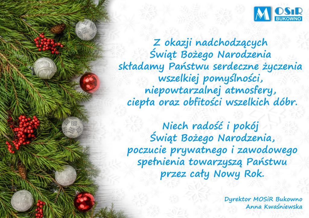 Świąteczne Życzenia Bożonarodzeniowe 2020